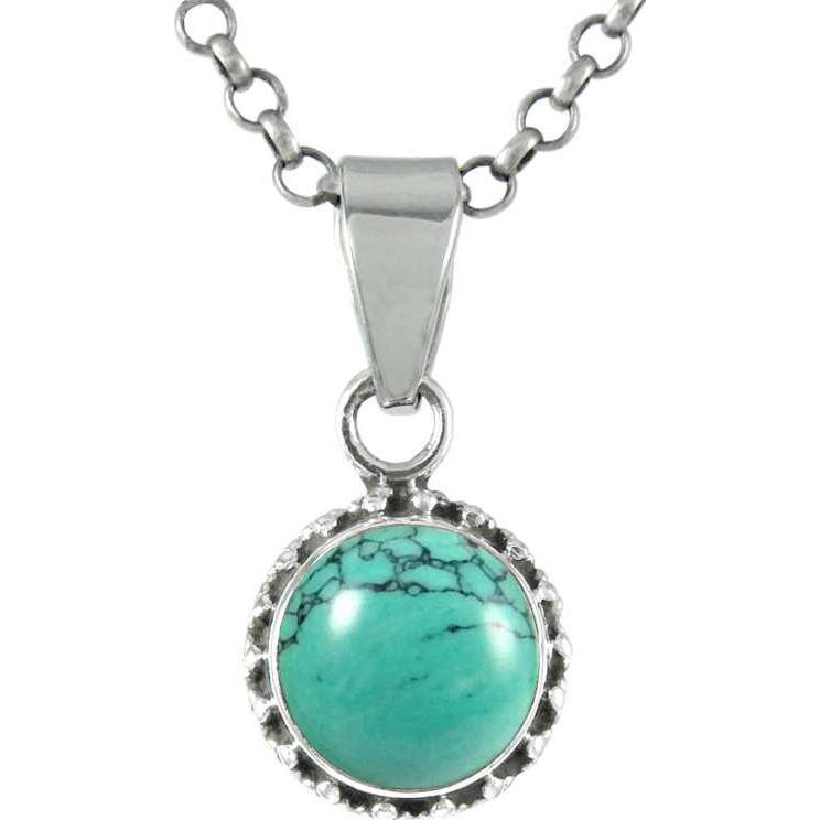 Secret Creation Turquoise Pendant Gemstone Sterling Silver Jewelry