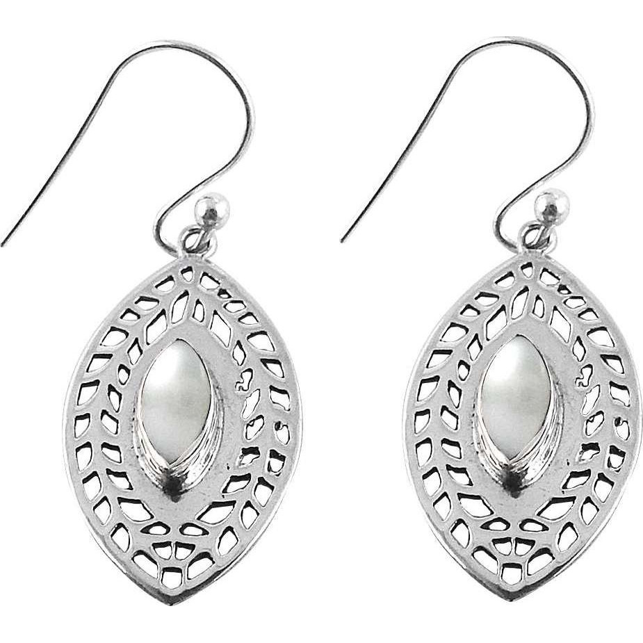 Big Secret Design !! Pearl 925 Sterling Silver Earrings