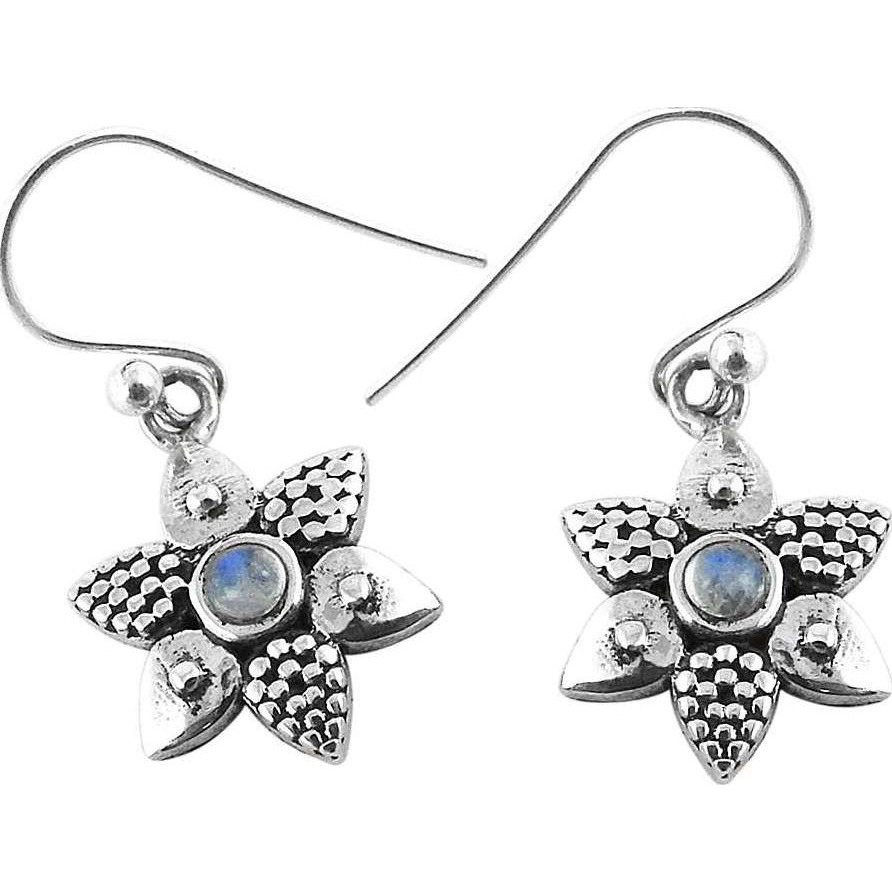 Passion!! 925 Silver Rainbow Moonstone Earrings