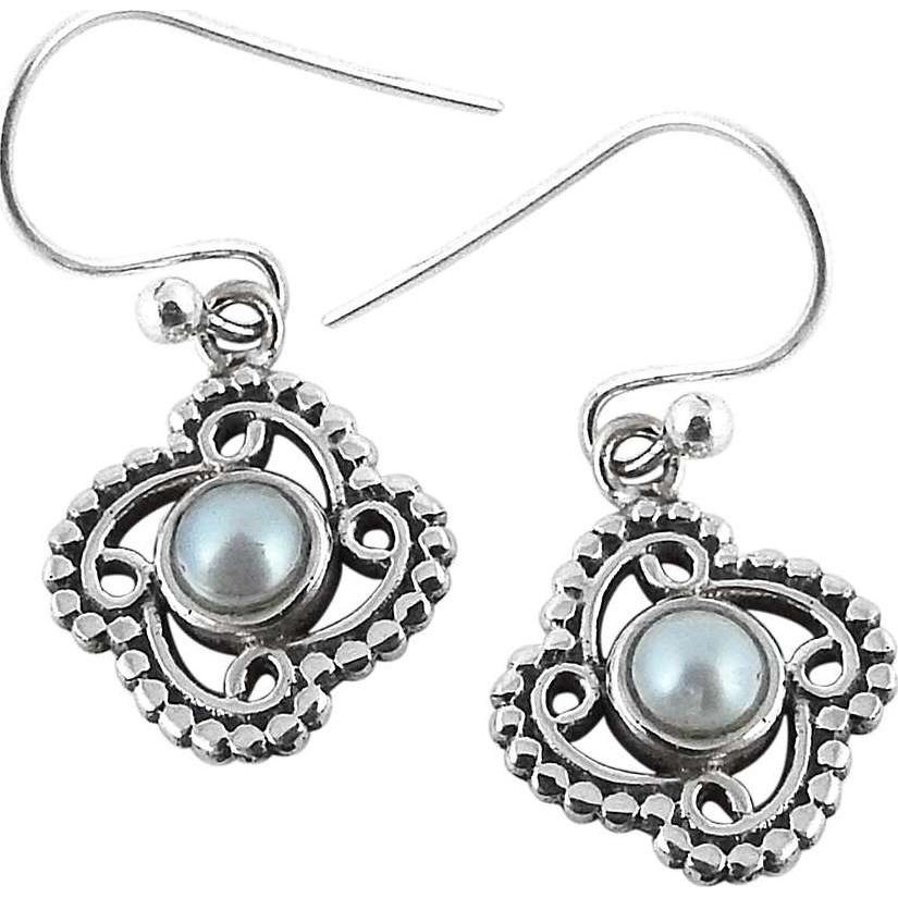 Fabulous!! 925 Silver Pearl Earrings