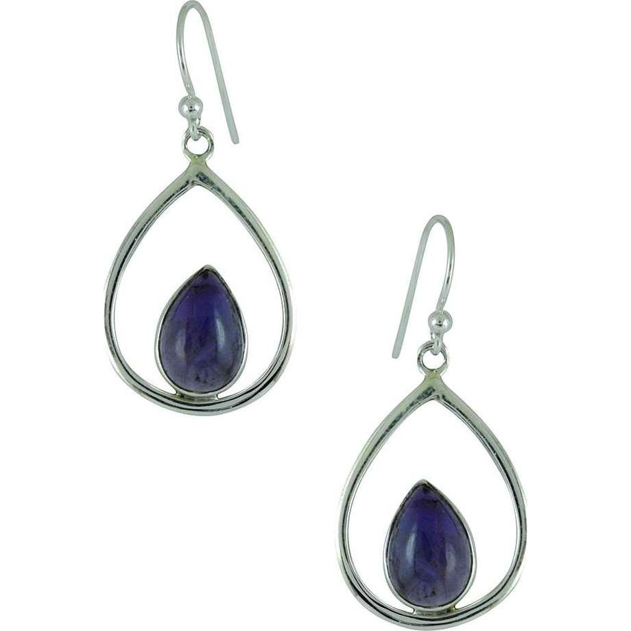 Blooming Garden !! Amethyst 925 Sterling Silver Earrings