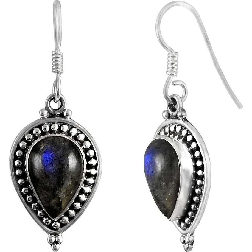 Best Quality ! 925 Sterling Silver Labradorite Earrings