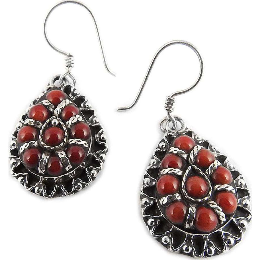 New Design!! 925 Silver Coral Earrings