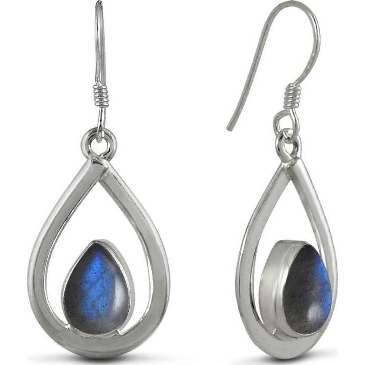 Manufacturer ! Labradorite Gemstone Silver Jewelry Earrings