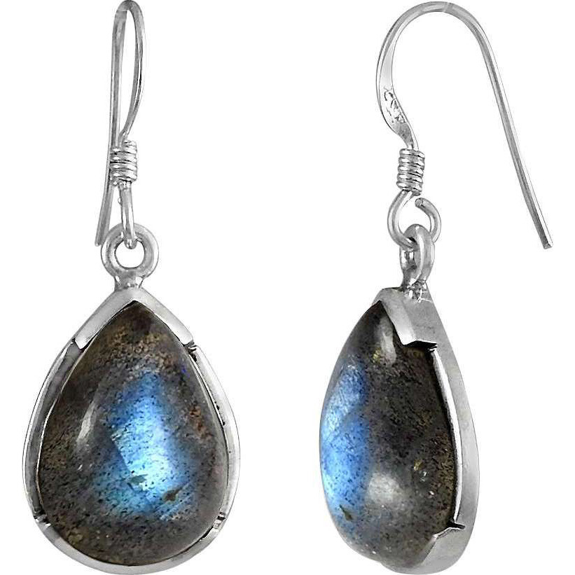 Blue Passion ! 925 Sterling Silver Labradorite Earrings