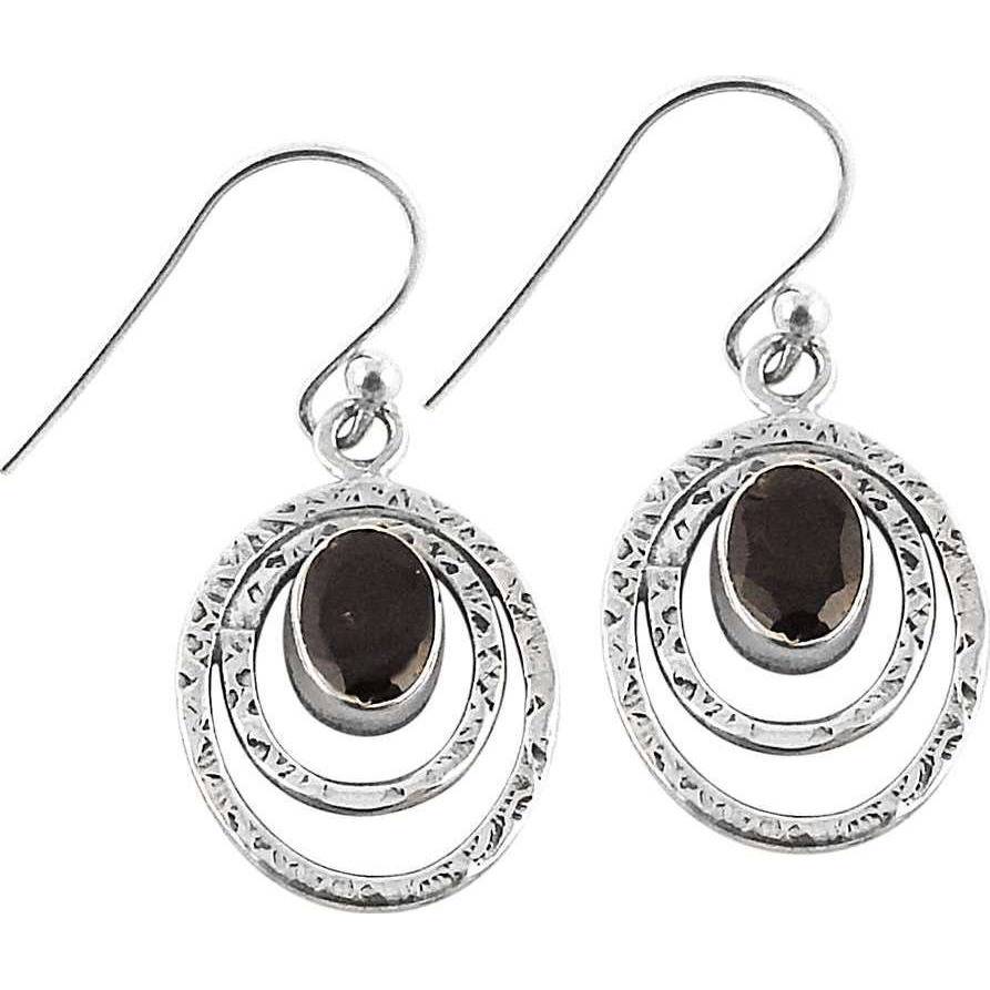 Hot ! 925 Silver Garnet Gemstone Earrings