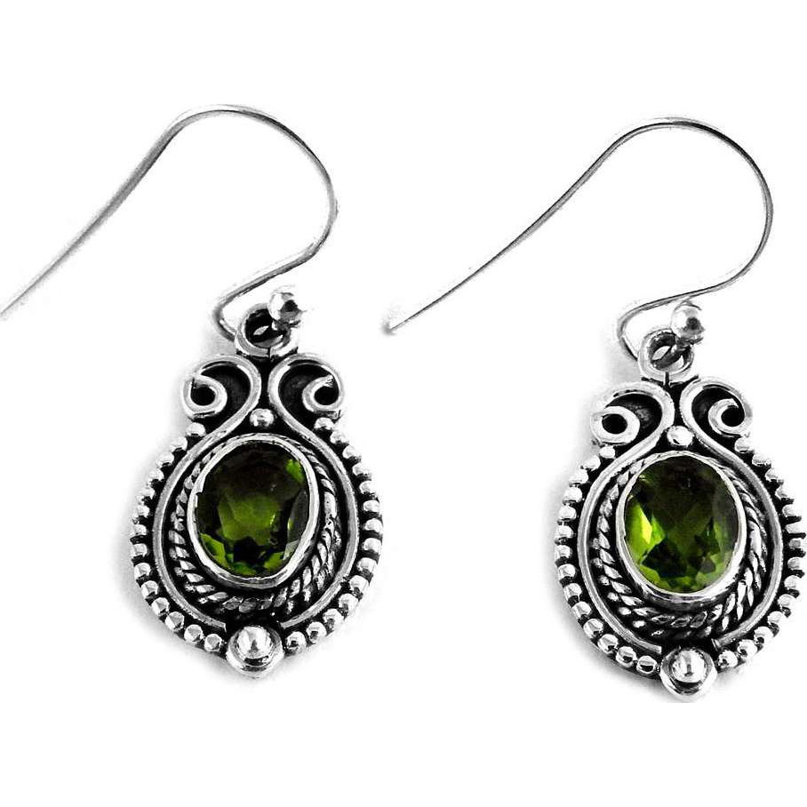 Created!!  925 Sterling Silver Peridot Earrings