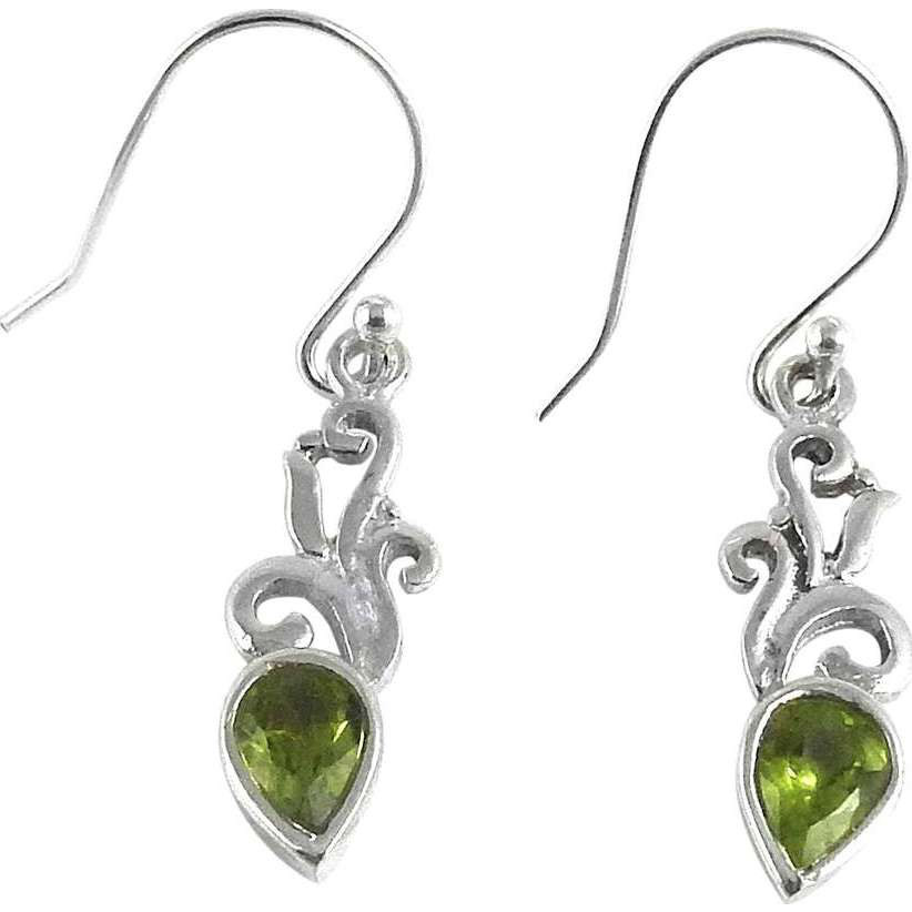 Draditions!! Peridot 925 Sterling Silver Earrings