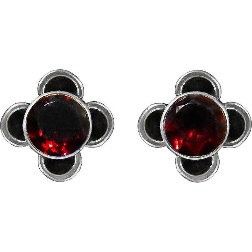 Scallywag!! 925 Sterling Silver Garnet Studs