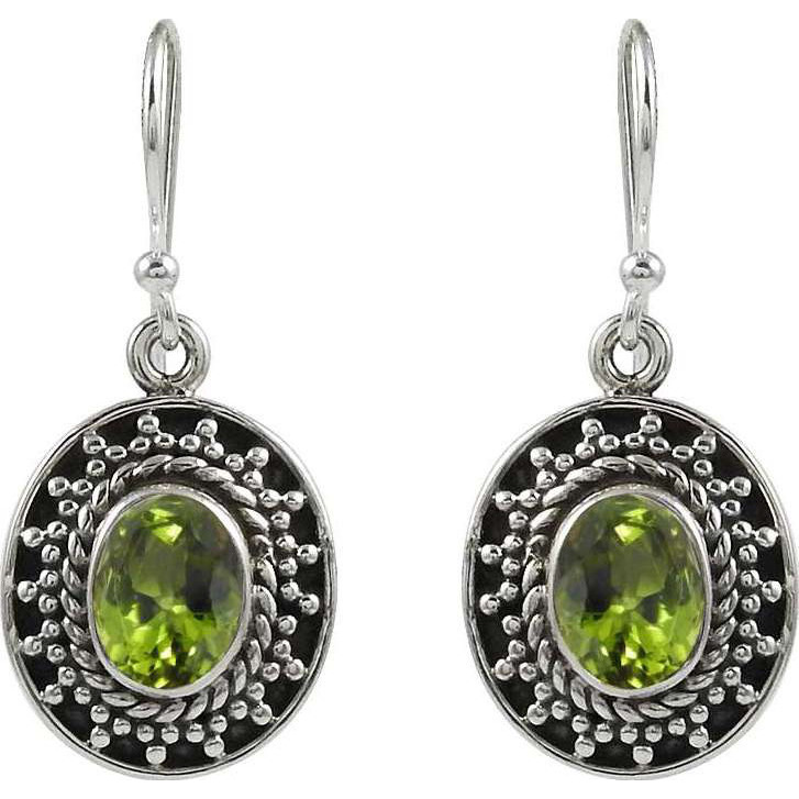 My Sweet!! 925 Sterling Silver Peridot Earrings