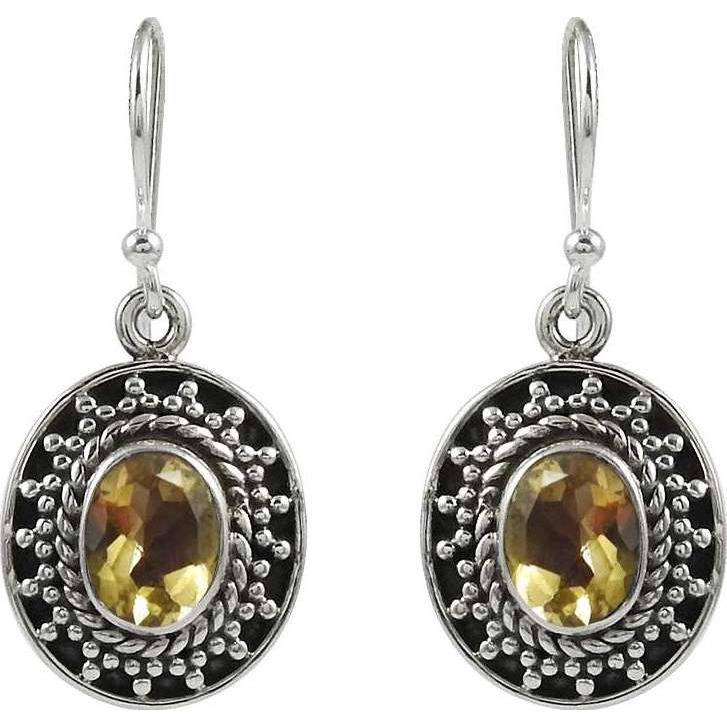 Lovely!! 925 Sterling Silver Citrine Earrings