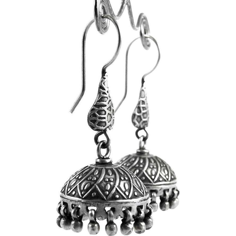 Fabulous! 925 Sterling Silver Jhumka Earrings