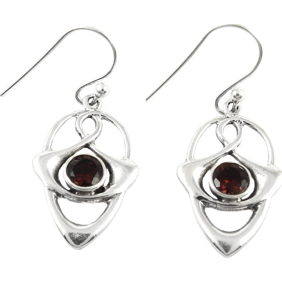 Very Delicate!! Garnet 925 Sterling Silver Earrings