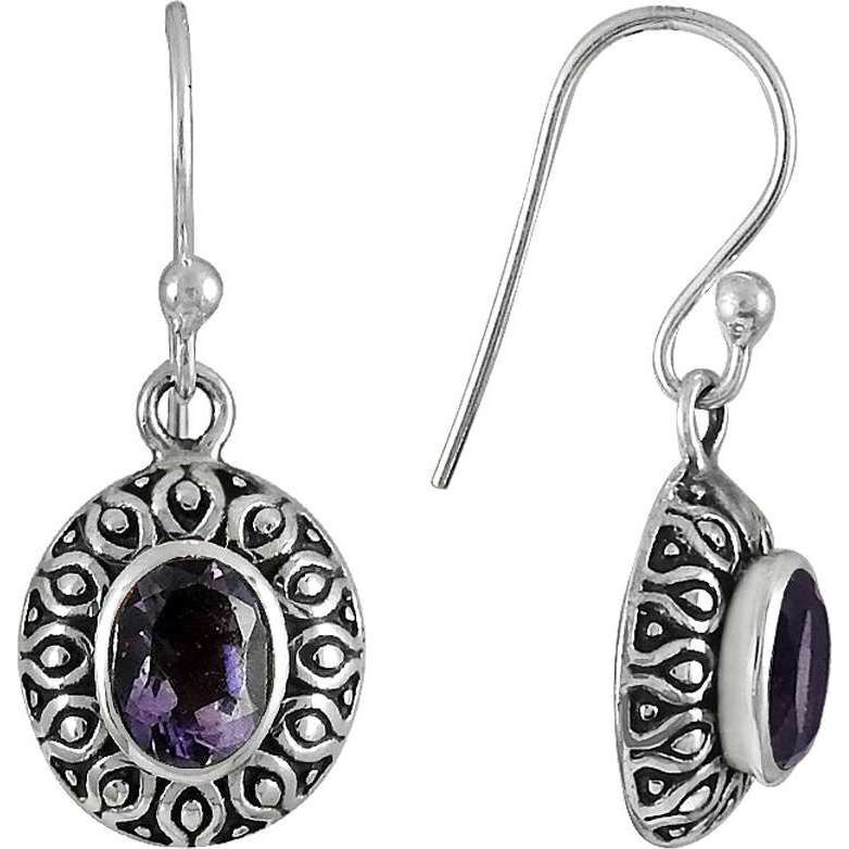 Bright Side!! 925 Sterling Silver Amethyst Earrings