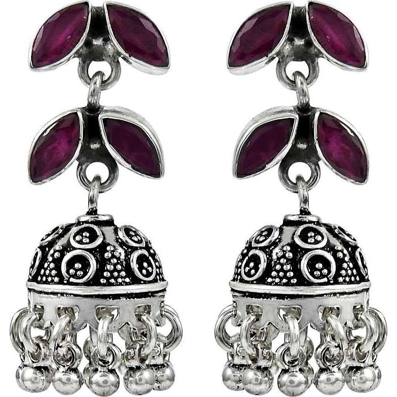 Fantastic Quality Of !! 925 Sterling Silver Ruby Earrings
