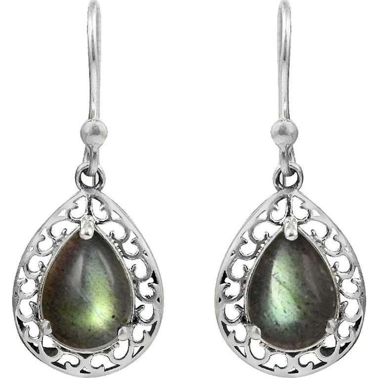 Franqipani Queen ! 925 Sterling Silver Blue Labradorite Earrings