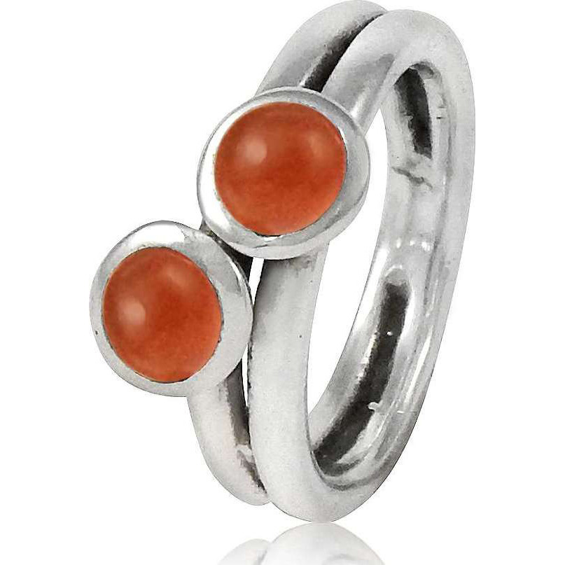 New Fashion Design! 925 Sterling Silver Carnelian Ring