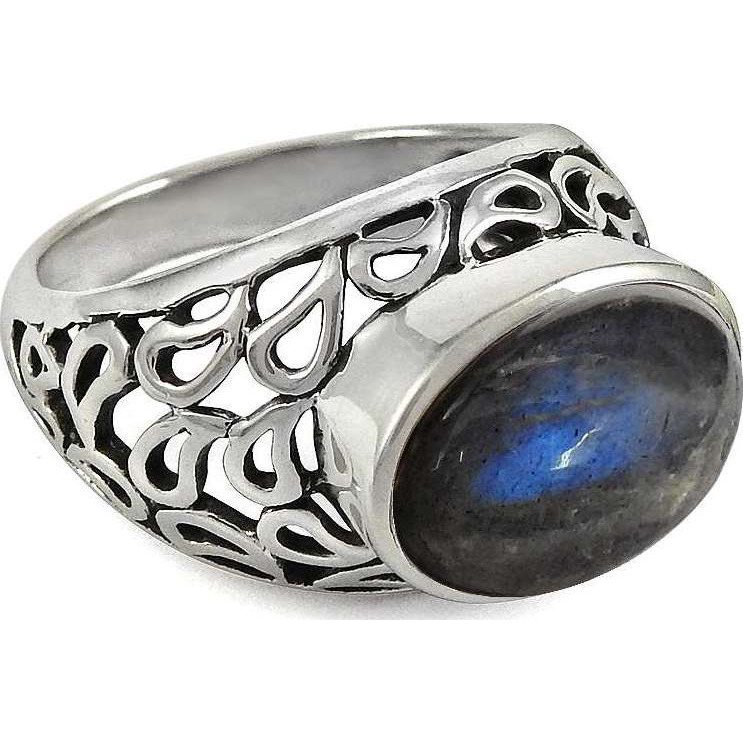 Big Love's Victory! 925 Sterling Silver Blue Labradorite Ring