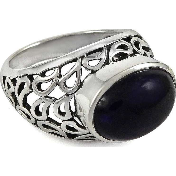 Big Delicate! 925 Sterling Silver Amethyst Ring