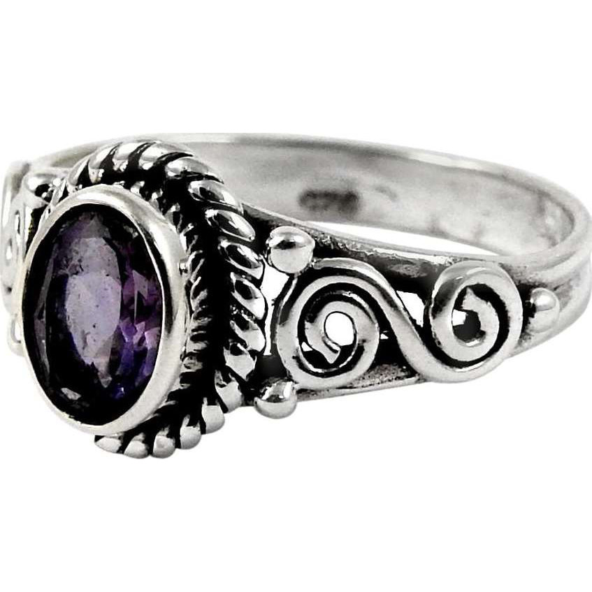 Breath Of Love!! 925 Sterling Silver Amethyst Ring