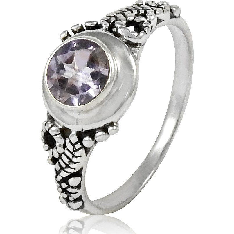 Charming!! 925 Sterling Silver Amethyst Ring