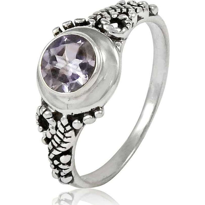 Chunky!! 925 Sterling Silver Amethyst Ring