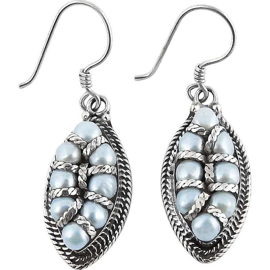 Colour Changing !! Pearl 925 Sterling Silver Earrings