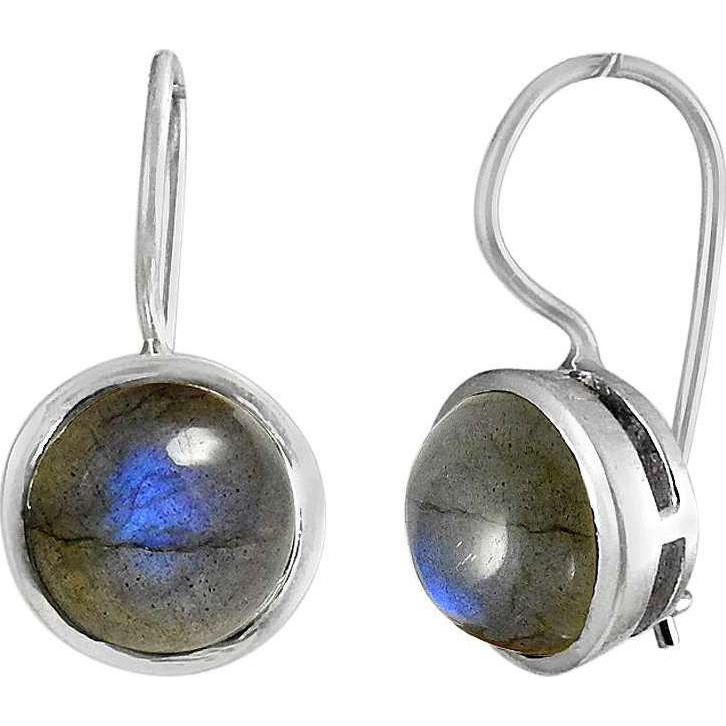 Classy ! 925 Sterling Silver Labradorite Earrings
