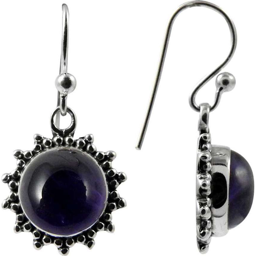 Bright Side ! Amethyst 925 Sterling Silver Earrings