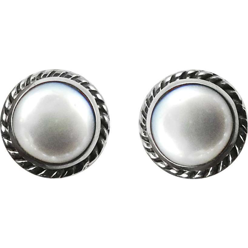 Big Special Moment! 925 Sterling Silver Pearl Stud Earrings