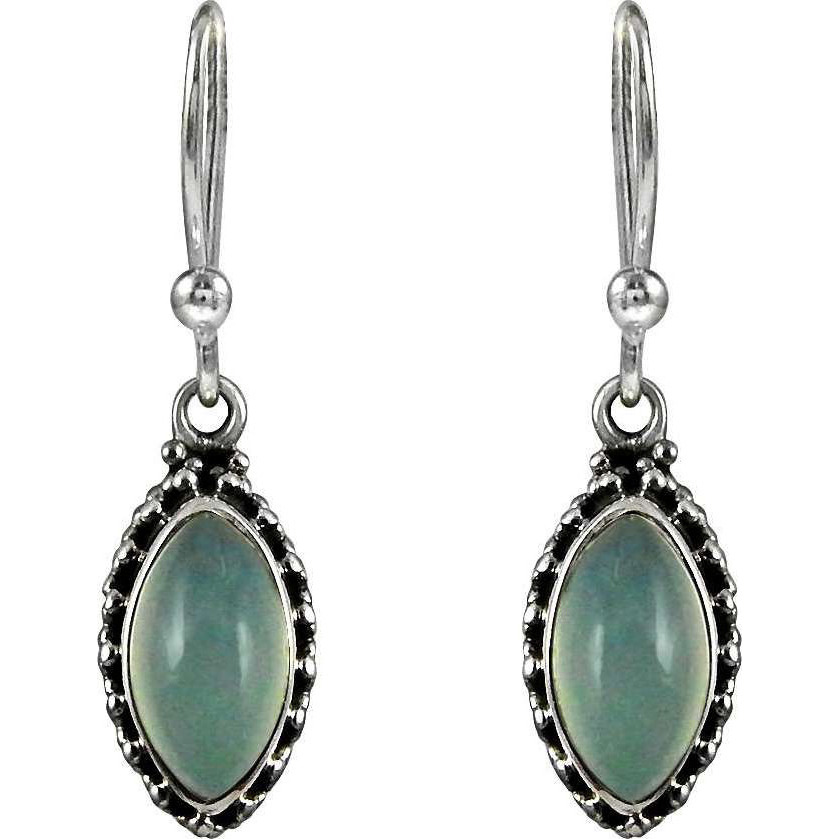 Stunning ! 925 Sterling Silver Chalcedony Earrings