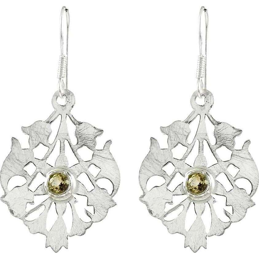 Jumbo Fantastic! 925 Silver Citrine Earrings