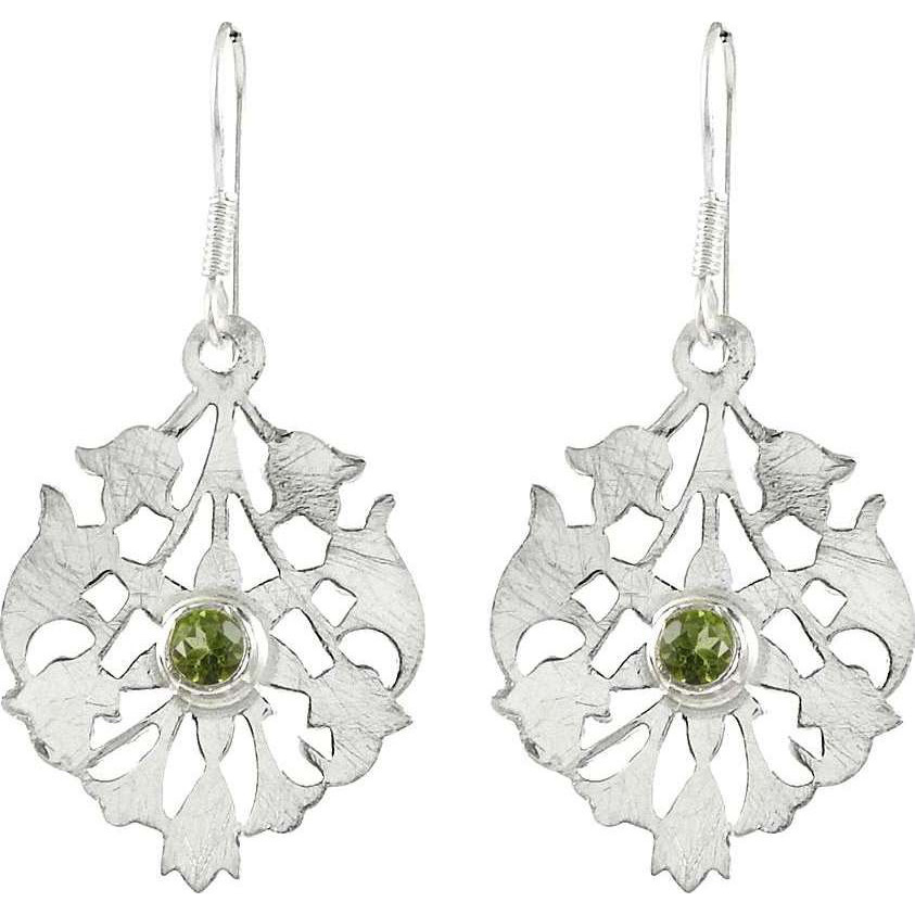 New Style Of! 925 Sterling Silver Peridot Earrings