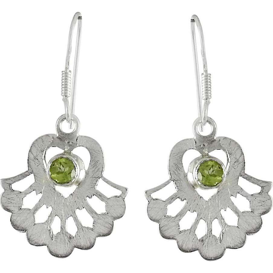 Big New Awesome! 925 Sterling Silver Peridot Earrings
