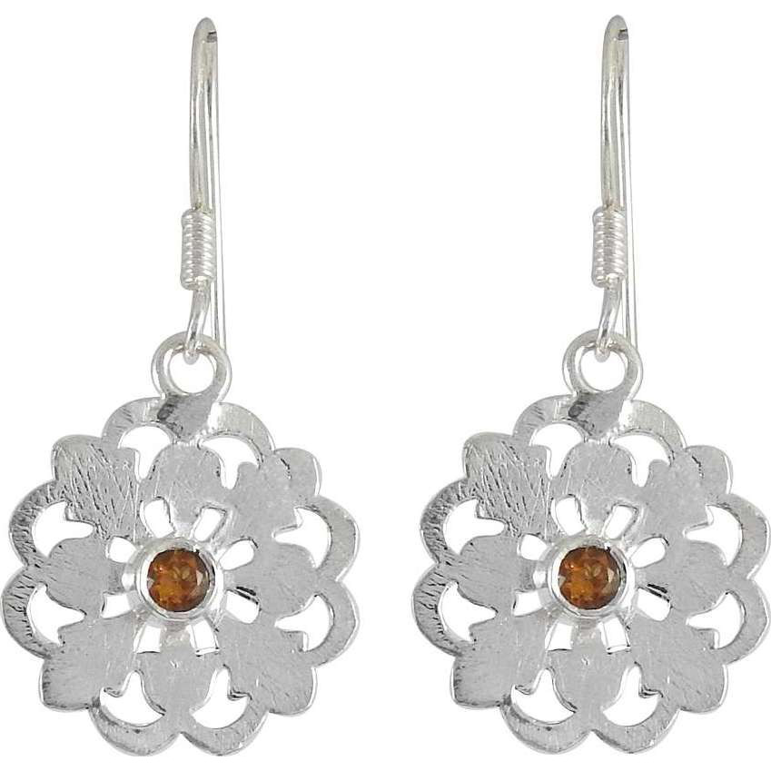 Spectacular Design! 925 Silver Citrine Earrings