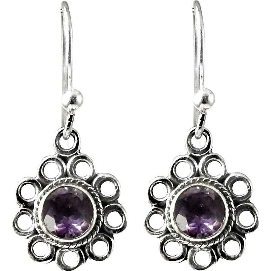 Clinquant ! Amethyst 925 Sterling Silver Earrings