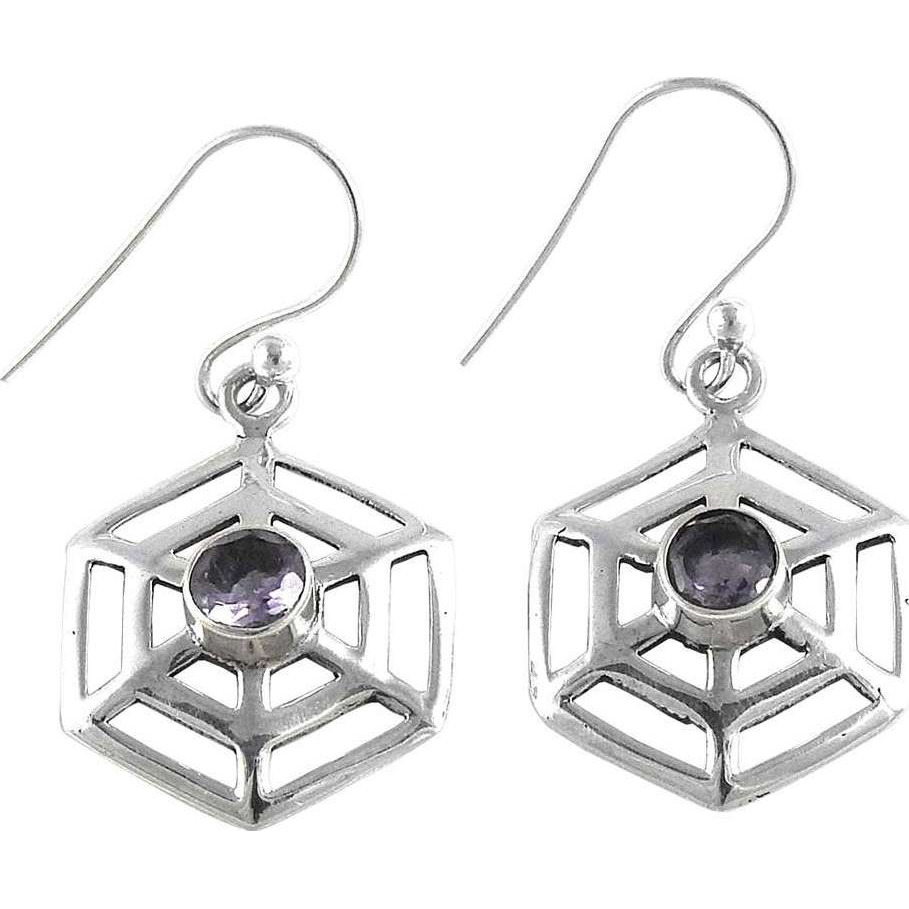 Big Dreamer ! Amethyst 925 Sterling Silver Earrings