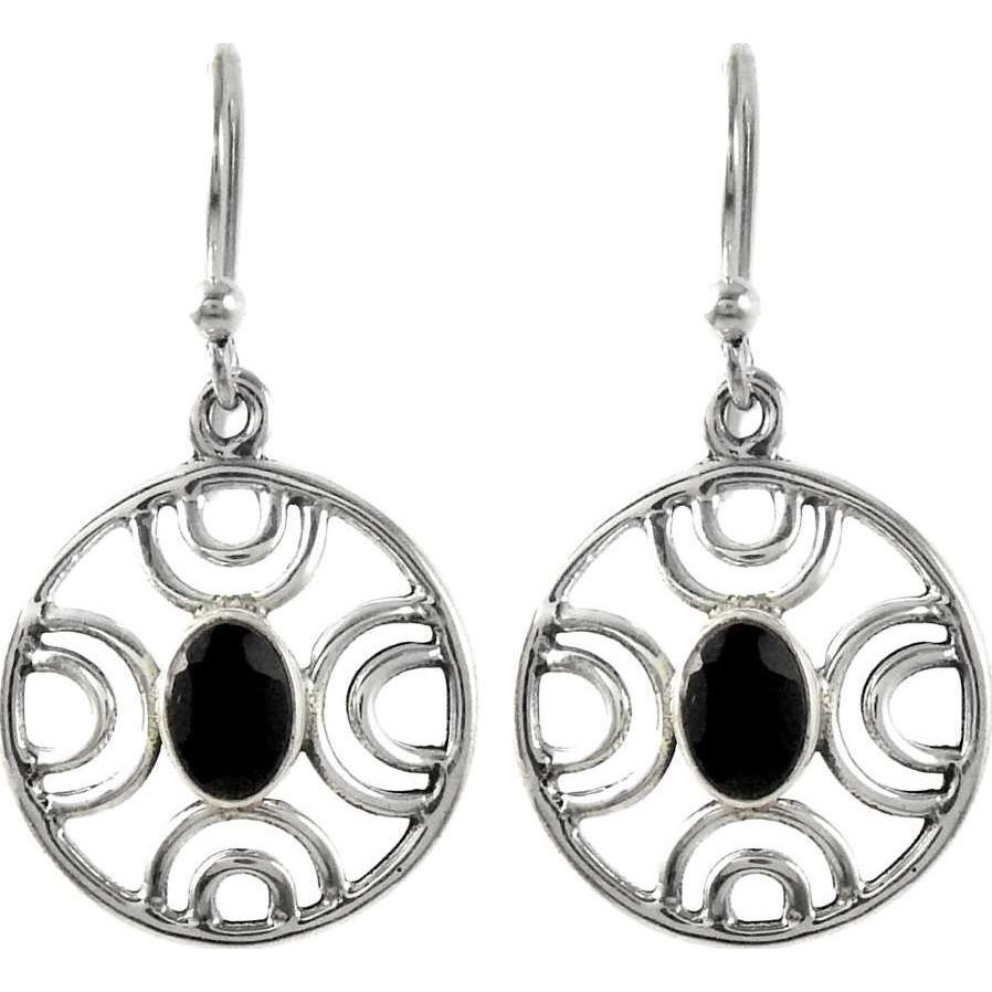 Love At First Sight Light ! Black Onyx 925 Sterling Silver Earrings