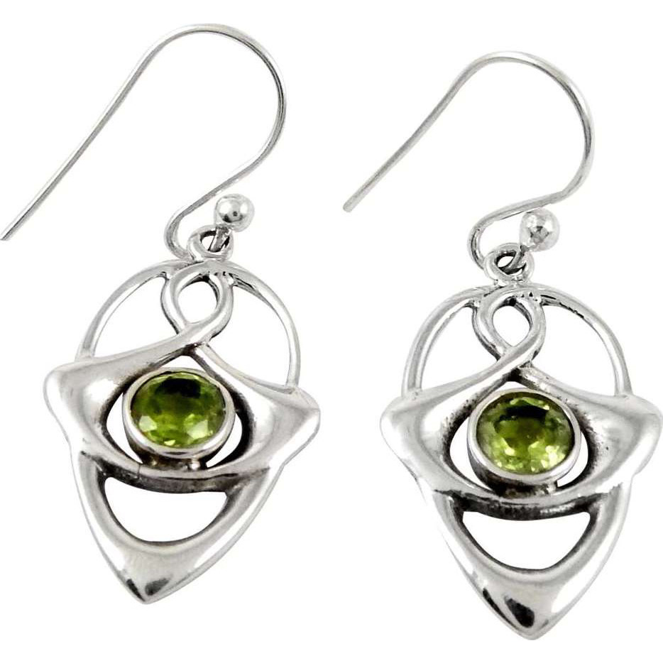 So In Love!! Peridot 925 Sterling Silver Earrings