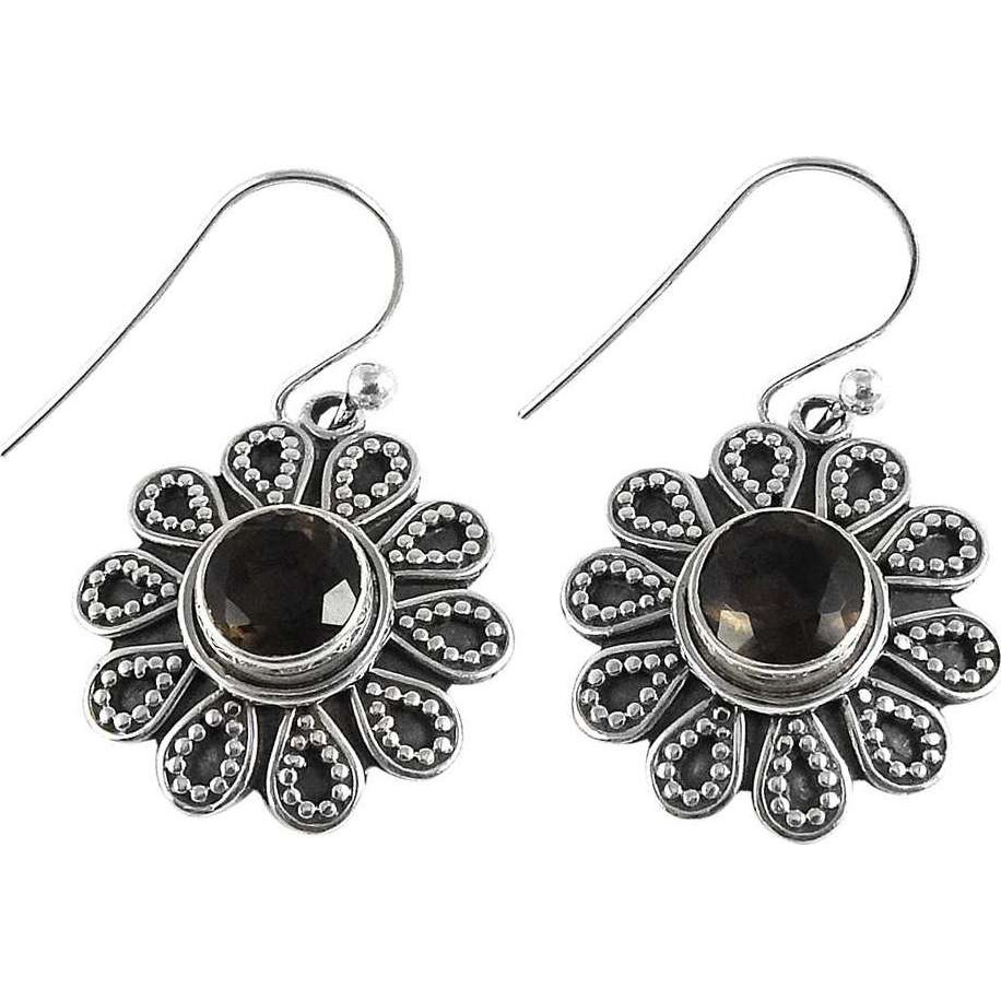 Captivating ! Smoky Quartz 925 Sterling Silver Earrings