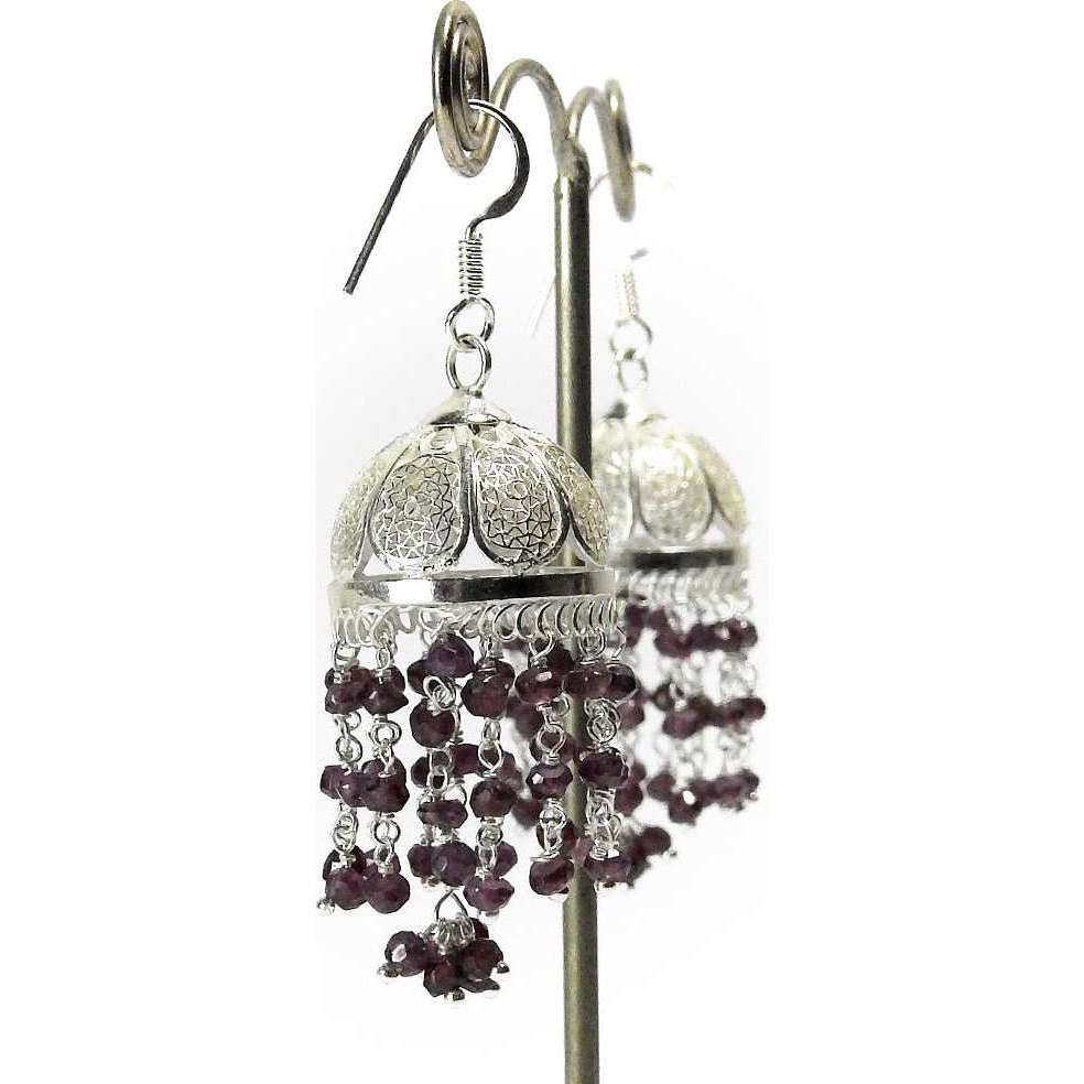 Royal Color ! Ruby 925 Sterling Silver Earrings