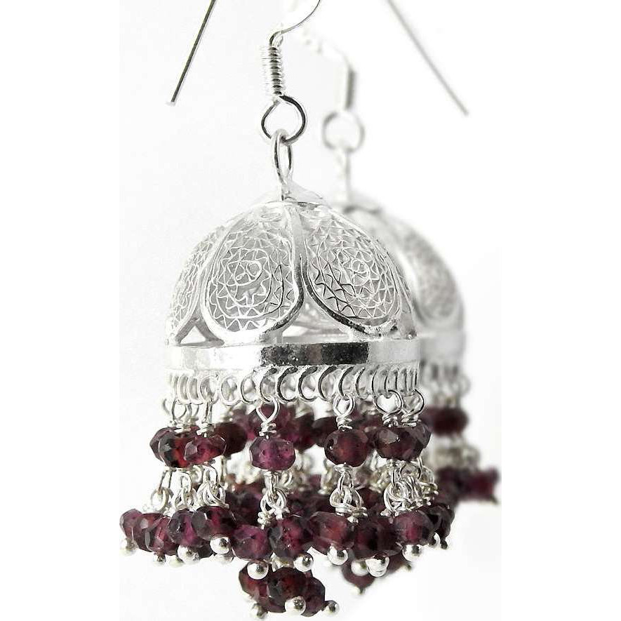 Passionate Modern Style Of ! Ruby 925 Sterling Silver Earrings