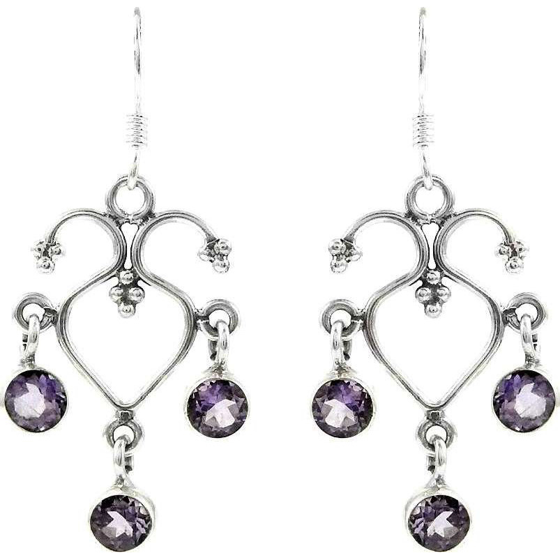 Exclusive ! Amethyst 925 Sterling Silver Earrings