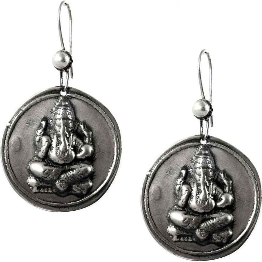 Lord Ganesh !! 925 Sterling Silver Earrings