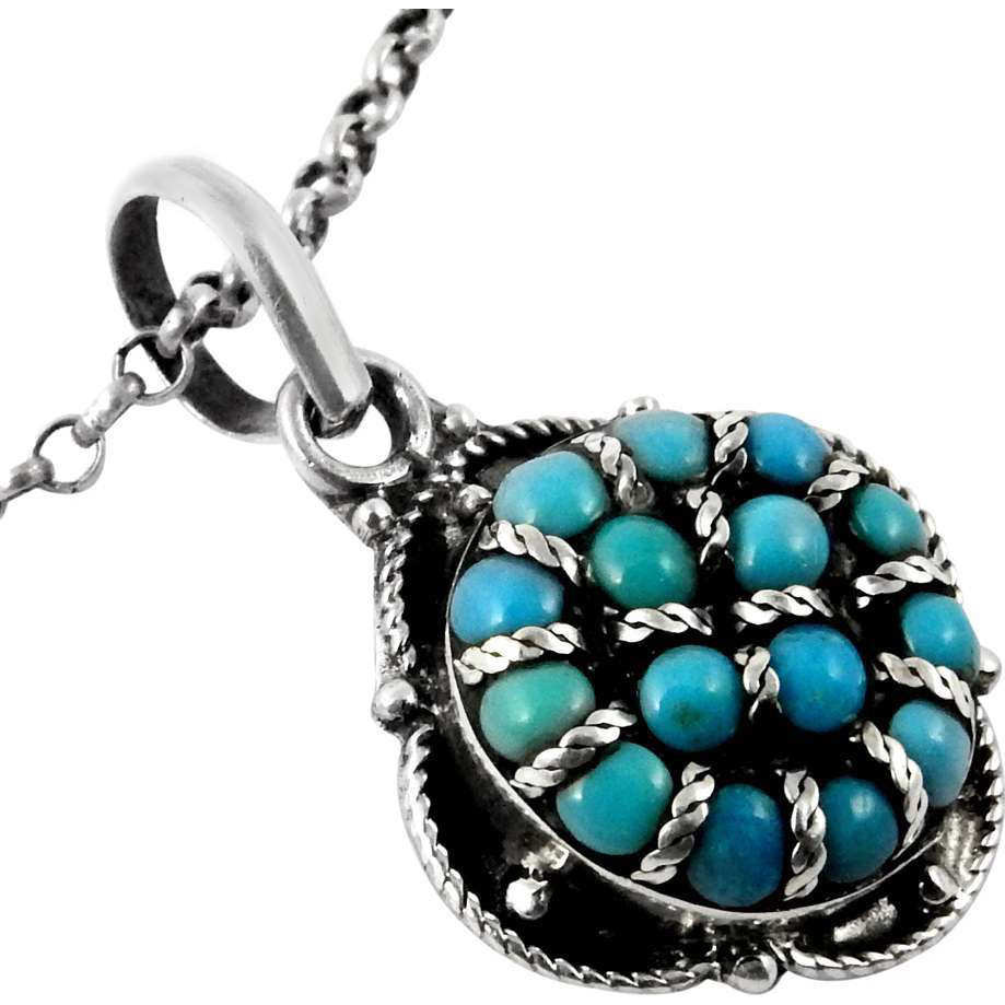 Ivy Precious!! Turquoise 925 Sterling Silver Pendant
