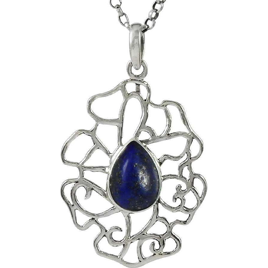 Exclusive ! 925 Sterling Silver Lapis Pendant