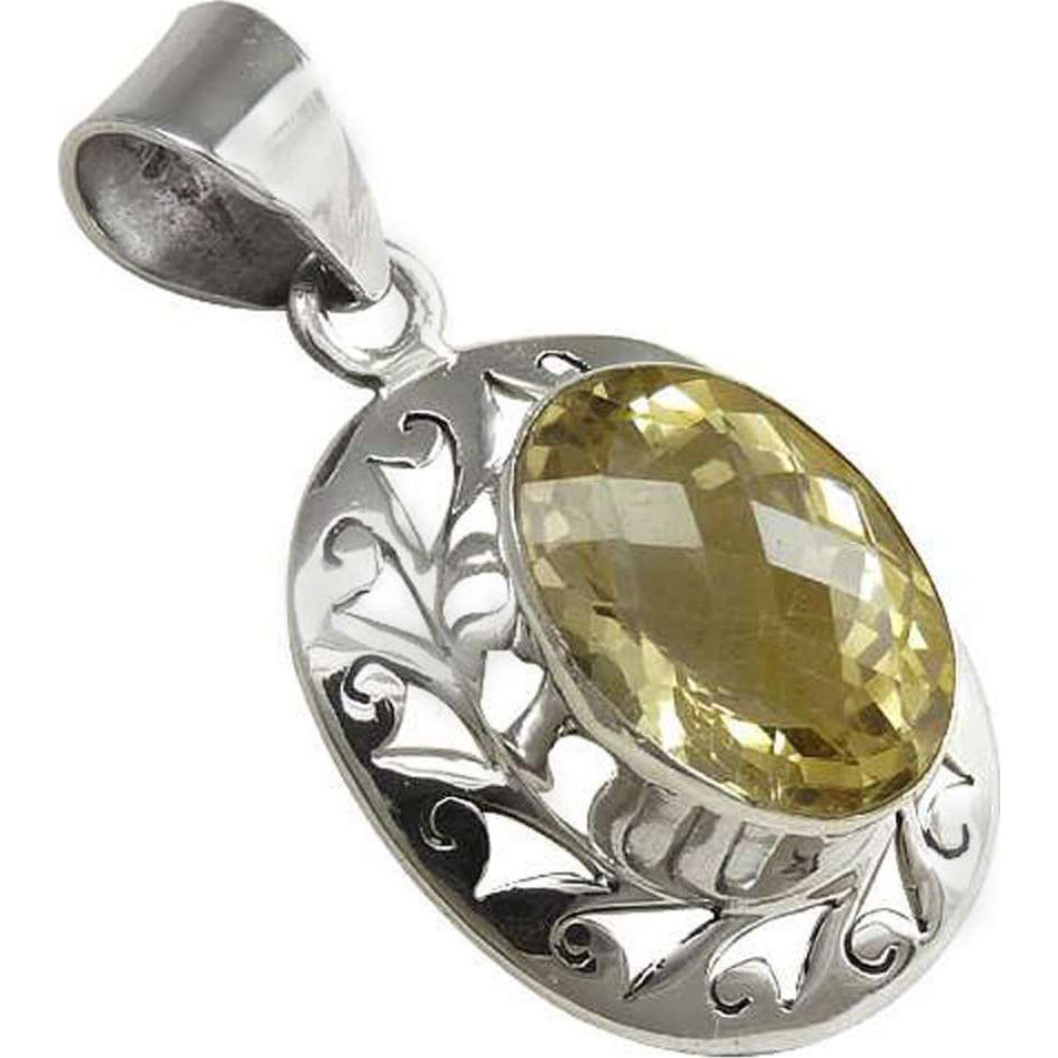Captivating! 925 Sterling Silver Citrine Pendant