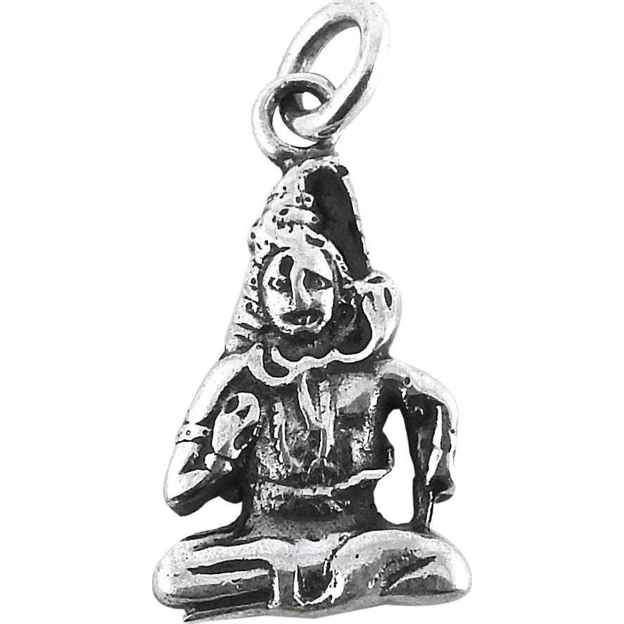 925 Sterling Silver Lord Shiva Charm Pendant
