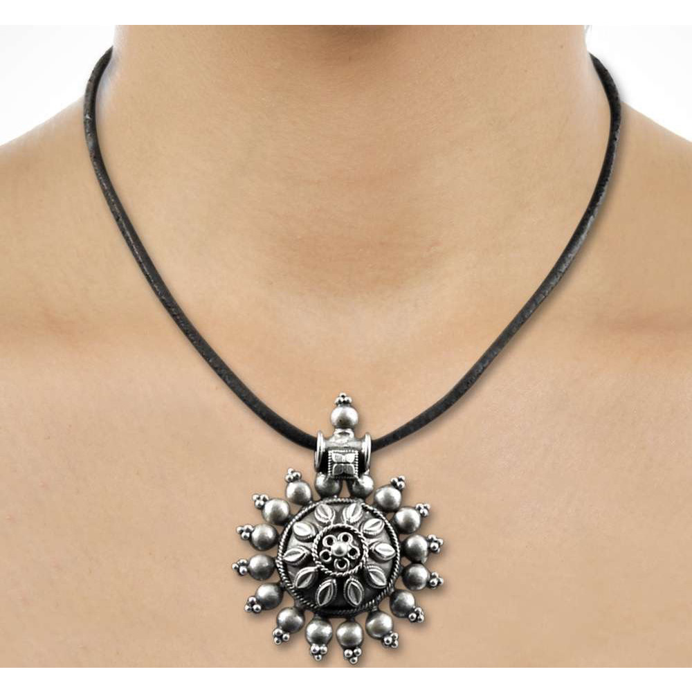 Flower Style!! 925 Sterling Silver Pendant