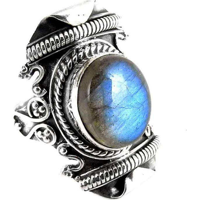 Great Creation! Labradorite 925 Sterling Silver Rings